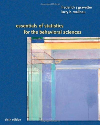 Essentials of Statistics for the Behavioral Sciences 6e