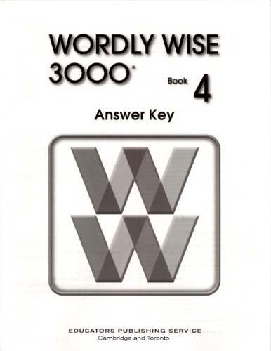 Wordly Wise 3000 Book 4 Answer Key