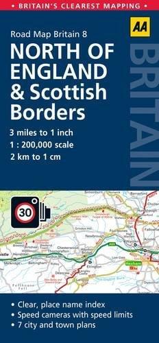 Road Map N England  Scottish Borde