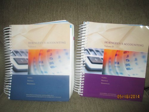 Horngren's Accounting 10th Edition