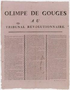 Olympe de Gouges au Tribunal Revolutionnaire