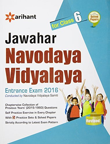 Jawahar Navodaya Vidyalaya Entrance Exam 2016 Conducted by Navodaya Vidyalaya Samiti for Class 6
