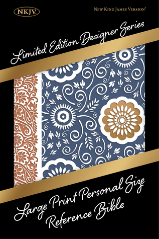 NKJV Large Print Personal Size Reference Bible, Designer Series, Bohemian Paisley, LeatherTouch