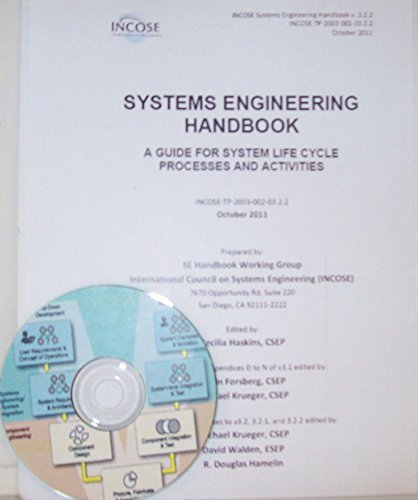 Incose Systems Engineering Handbook Version 3.2.2 - A Guide For Life Cycle Processes and Activities with CD