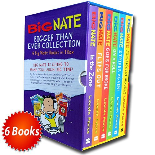 Big Nate Series Collection Lincoln Peirce 6 Books Box Set Gift Pack