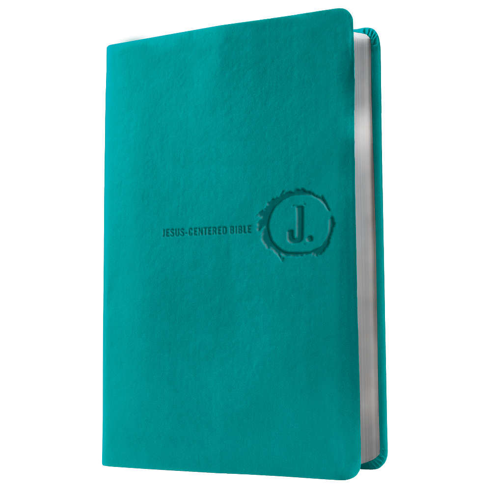 NLT Jesus Centered Bible, Synthetic Leather Turquoise