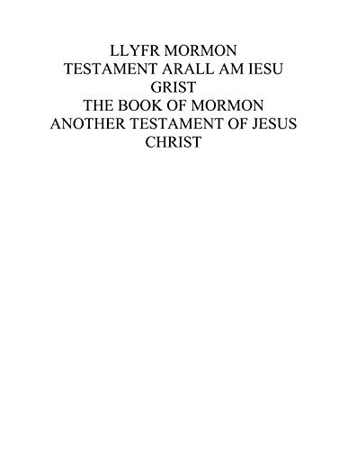 Llyfr Mormon: A Dual Language edition of the Book of Mormon in English and Welsh