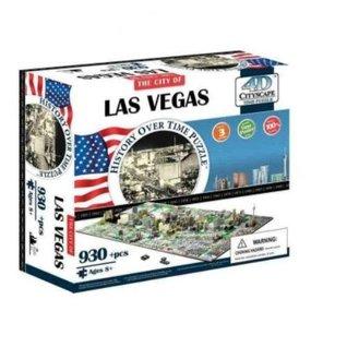 4d Cityscape Las Vegas History Time: 930 Pieces