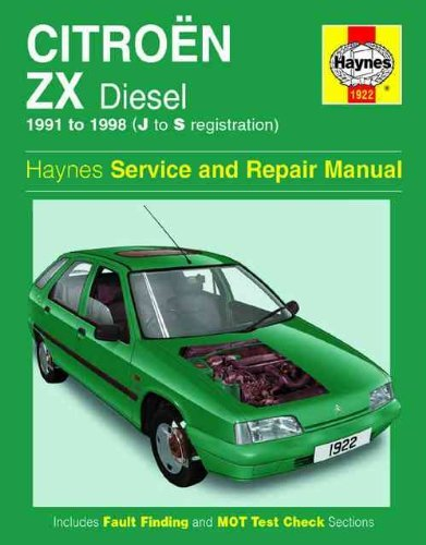 Citroen ZX Diesel (1991 to 1993) (Service and Repair Manuals)