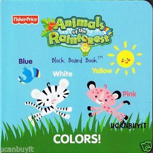 Animals of the Rainforest Block Board Book - Colors!