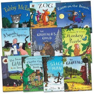 Julia Donaldson and Axel Scheffler Pack, 10 books, RRP £69.90 (A Squash and a Squeeze; Charlie Cook's Favourite Book; Monkey Puzzle; Room on the Broom; Stick Man; Tabby McTat; The Gruffalo; The Gruffalo's Child; The Smartest Giant in Town; Zog).