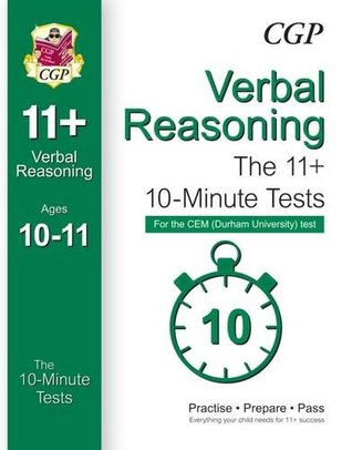 10-Minute Tests for 11+ Verbal Reasoning (Ages 10-11) - CEM Test