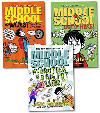 James Patterson Middle School Series Collection 3 Books Set By James