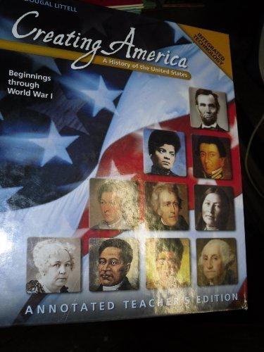 McDougal Littell Creating America: Teacher Edition Grades 6-8 Beginnings through World War l 2001