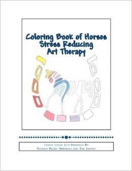 Coloring Book of Horses Stress Reducing Art Therapy