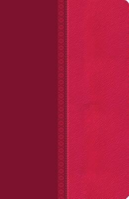 NKJV, Ultraslim Reference Bible, Large Print, Leathersoft, Pink, Indexed, Red Letter Edition
