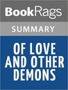 Of Love and Other Demons by Gabriel Garcia Marquez SummaryStudy Guide