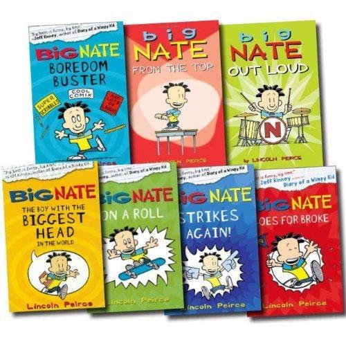 Big Nate Series Collection Lincoln Peirce 7 Books Set