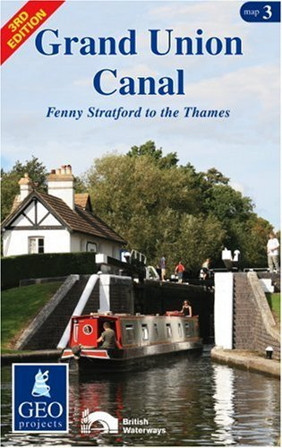 Grand Union Canal: Map 3: Fenny Stratford to the Thames (Inland Waterways of Britain): Fenny Stratford to the Thames Map 3