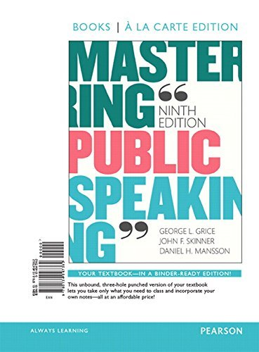 Mastering Public Speaking [with REVEL Access Code]