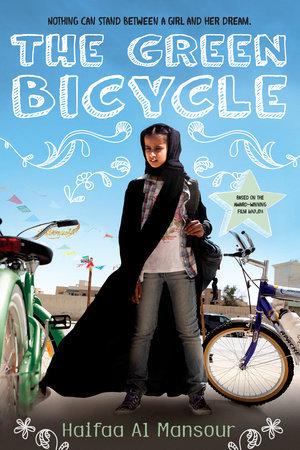 Spunky eleven-year-old Wadjda lives in Riyadh, Saudi Arabia with her parents. She desperately wants a bicycle so that she can race her friend Abdullah, even though it is considered improper for girls to ride bikes. Wadjda earns money for her dream bike by selling homemade bracelets and mixtapes of banned music to her classmates. But after she's caught, she's forced to turn over a new leaf (sort of), or risk expulsion from school. Still, Wadjda keeps scheming, and with the bicycle so closely in her sights, she will stop at nothing to get what she wants.  Set against the shifting social attitudes of the Middle East, The Green Bicycle explores gender roles, conformity, and the importance of family, all with wit and irresistible heart.