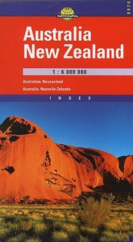 Australia - New Zealand Road & Travel Map by Cartographia
