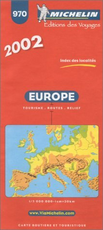 Michelin Europe Map No. 970, 13e
