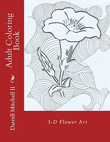 Adult Coloring Book - 3D Flower Art
