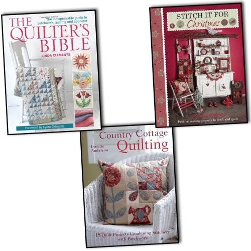 Linda Clements and Lynette Anderson Quilting and Stitching 3 Books Collection Pack Set RRP: £43.97