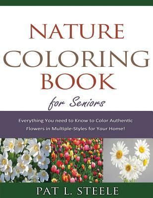 Nature Coloring Book for Seniors