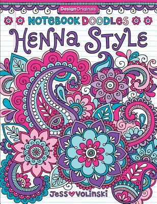 Notebook Doodles Henna Style Coloring Activity Book By Jess
