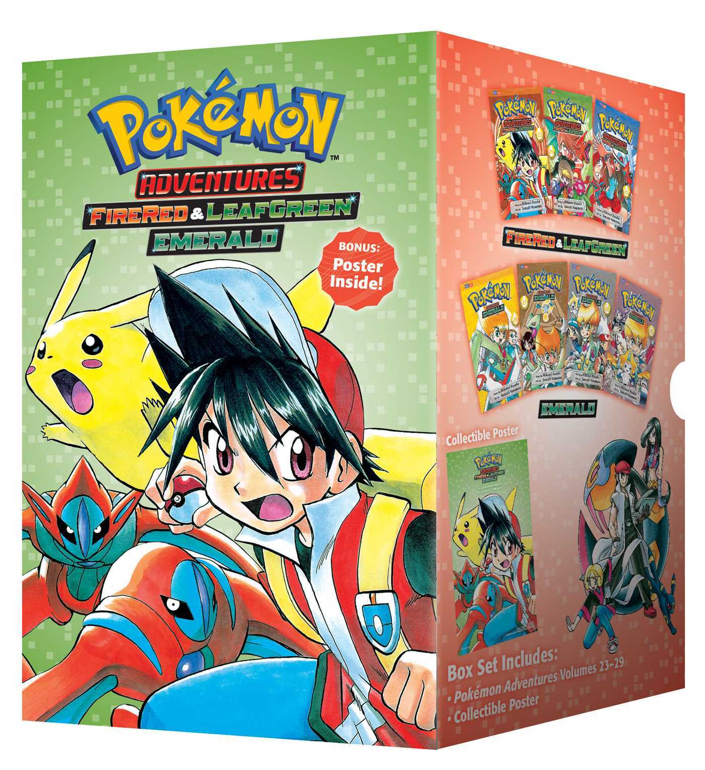 Pokémon Adventures Fire Red  Leaf Green / Emerald Box Set: Includes Volumes 23-29