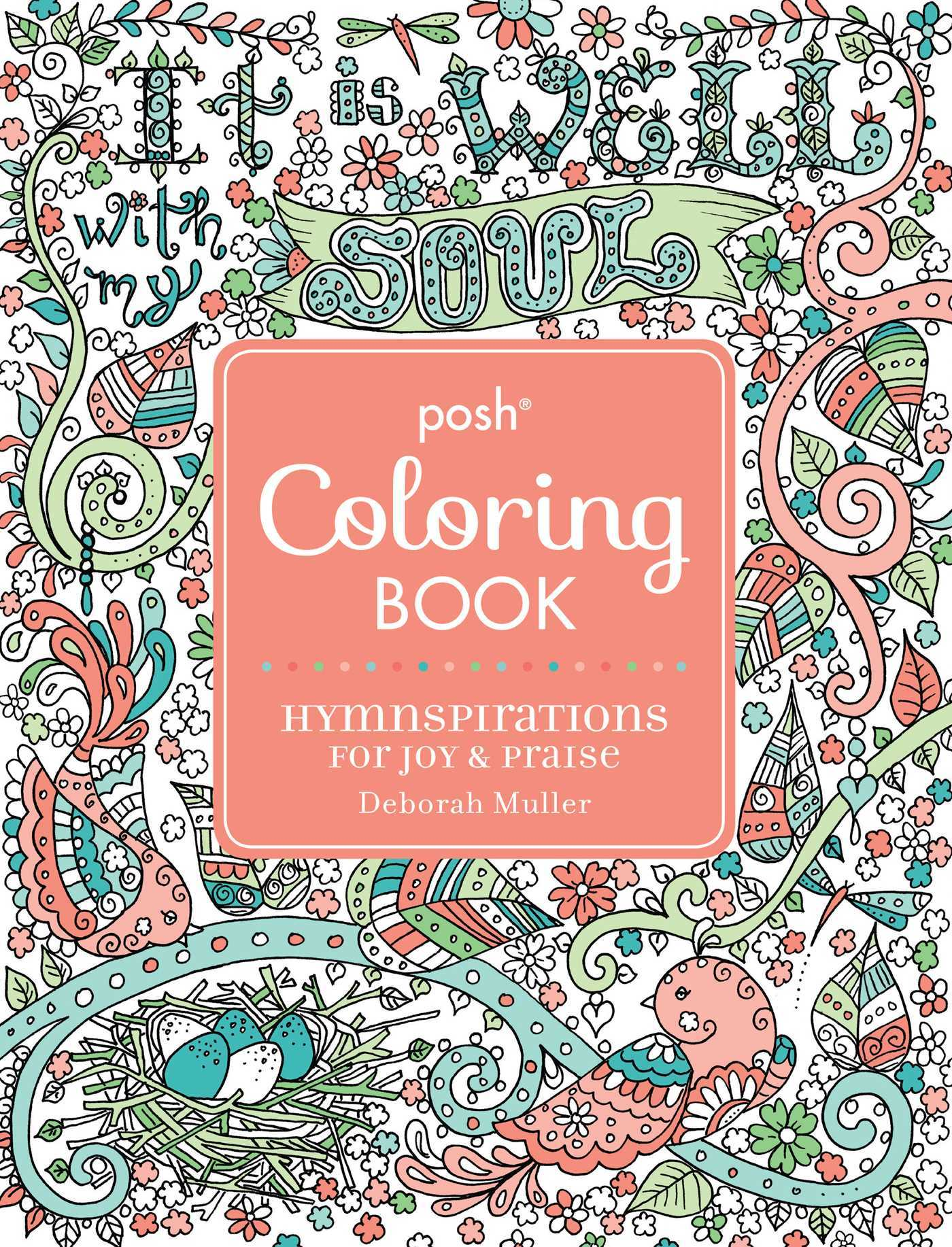 Posh Adult Coloring Book: Hymnspirations for Joy  Praise