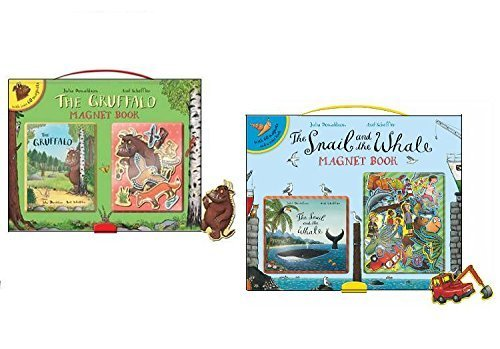 The Gruffalo Julia Donaldson 2 Magnet Books Collection Set, (The Gruffalo Magnet Book and The Snail and the Whale Magnet Book)