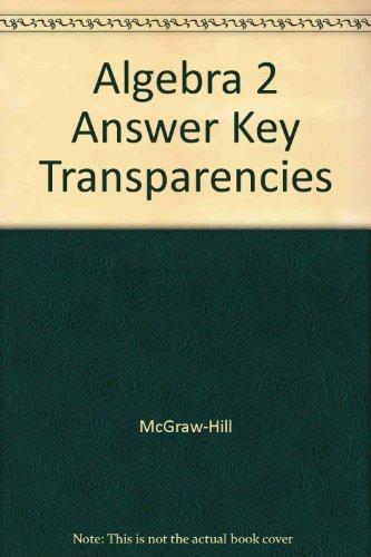 Algebra 2 Answer Key Transparencies