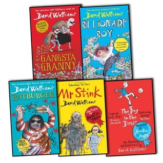 David Walliams 5 Books Collection Pack Set RRP: £53.26