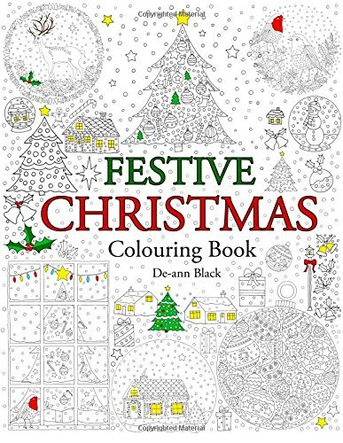 Festive Christmas: Colouring Book