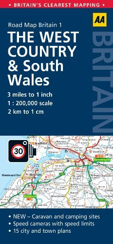 Road Map Britain: The West Country  South Wales