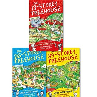 Andy Griffiths The 13-Storey Treehouse Collection Set Pack, (The 13-storey Treehouse, the 26-storey Treehouse and the 39-storey Treehouse)