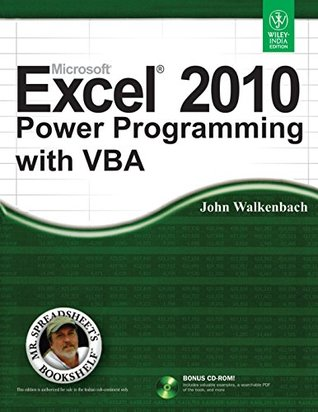 Microsoft Excel 2010 Power Programming with VBA