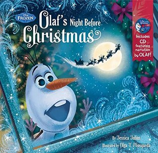 Frozen Olaf's Night Before Christmas Book CD