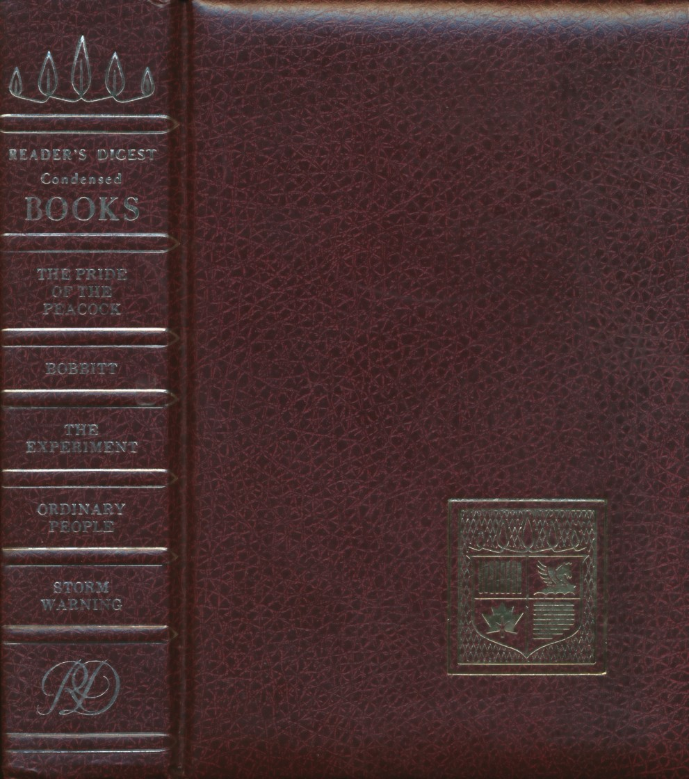 Reader's Digest Condensed Books: The Pride of the Peacock, Bobbitt, The Experiment, Ordinary People, Storm Warning