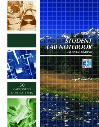 Student Lab Notebook: 50 Carbonless Duplicate Sets. Top sheet perforated