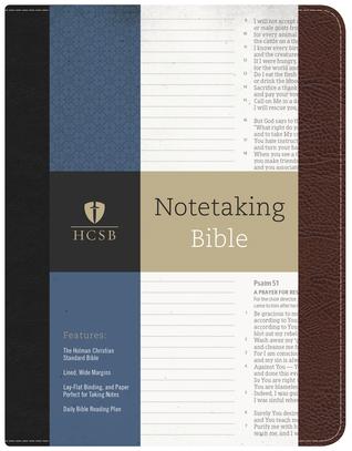 HCSB Notetaking Bible, Black/Brown Bonded Leather (ePUB)