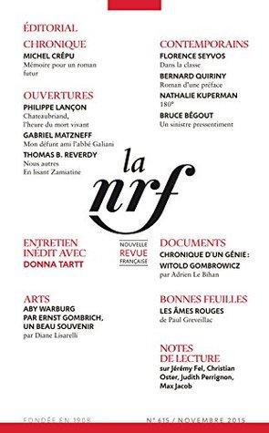La Nouvelle Revue Française N° 615