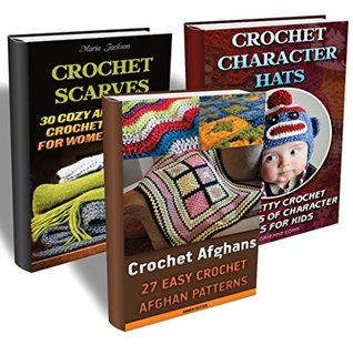 a39b3af7d69 Crochet Projects BOX SET 3 IN 1  50 Crochet Character Hats + 30 Crochet  Scarves + 27 Crochet Afghans  by Adrienne Long