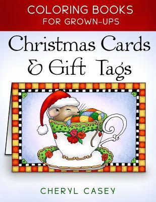 Christmas Cards & Gift Tags: Coloring Books for Grownups, Adults por Cheryl Casey, Wingfeather Coloring Books