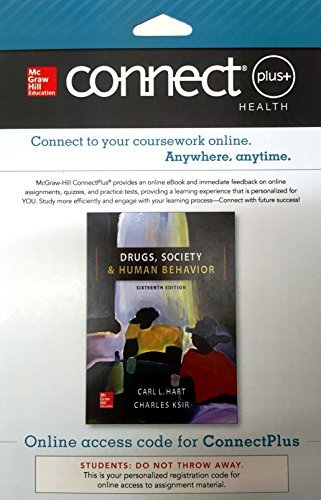 Connect Access Card for Drugs, Society, and Human Behavior