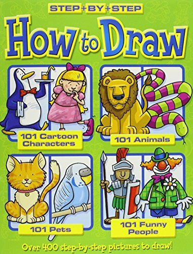 How to Draw 101 Cartoon Characters- Animals - Pets - Funny People