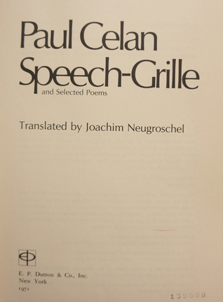 Speech Grille and Selected Poems